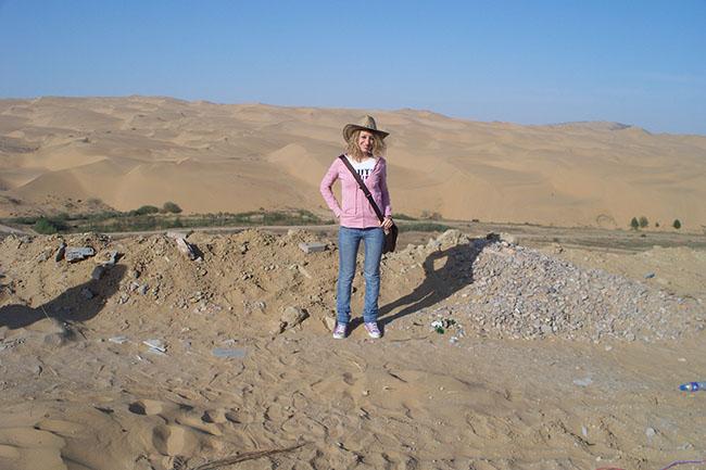 io nel deserto del Gobi
