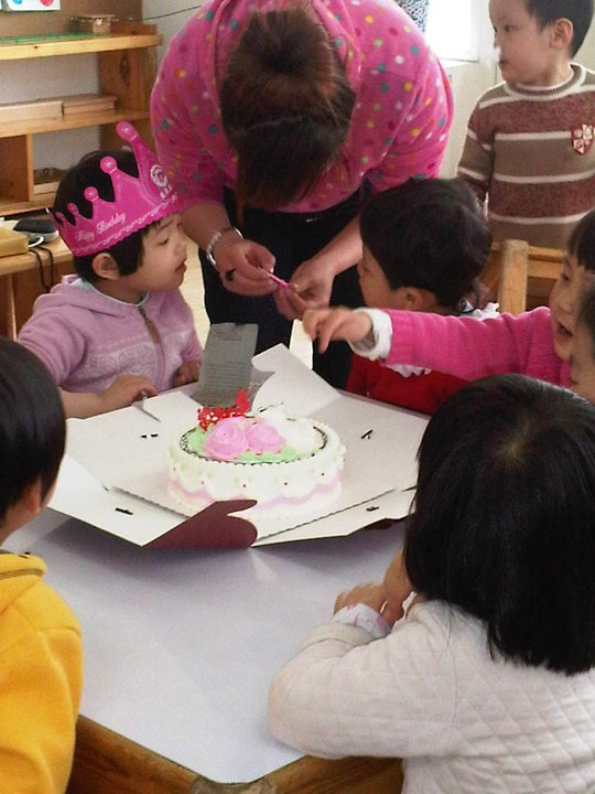 lezione di arte in asilo