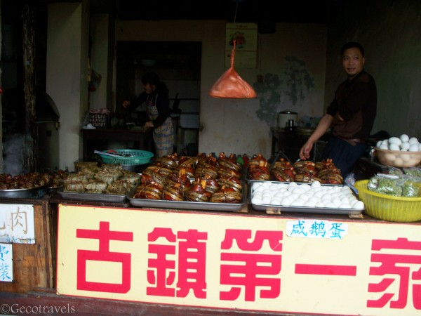 bancarella con street food
