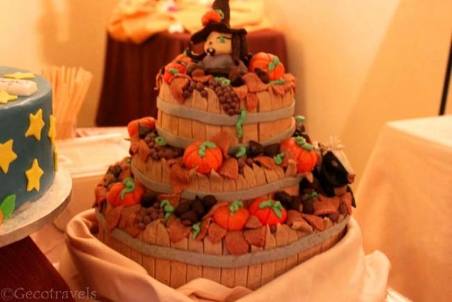 torta con design autunnale