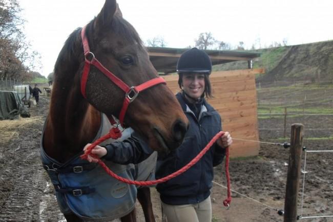io con un cavallo