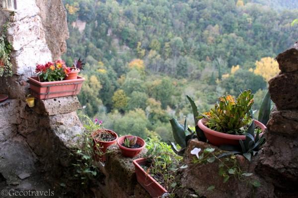 terrazza che si affaccia sulla Valle del Treja