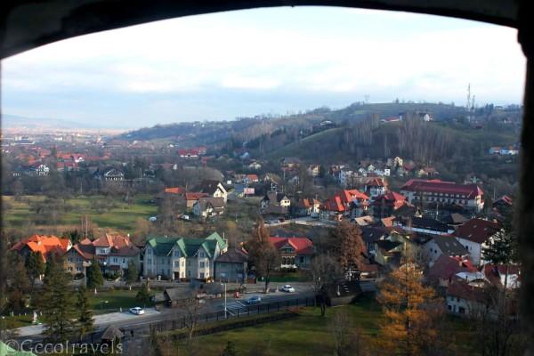 vista dal castello di Bran