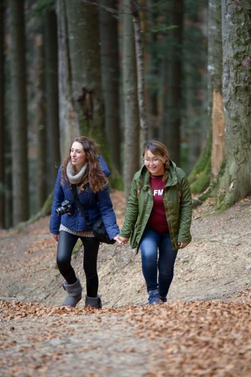 io e la mia amica russa fra i boschi