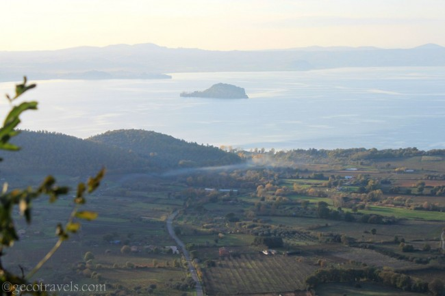 vista su lago di Bolsena