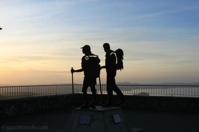 monumento per i pellegrini su Via Francigena