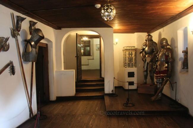 sala delle armi del castello di Bran