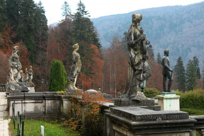 statue del castello di Peles