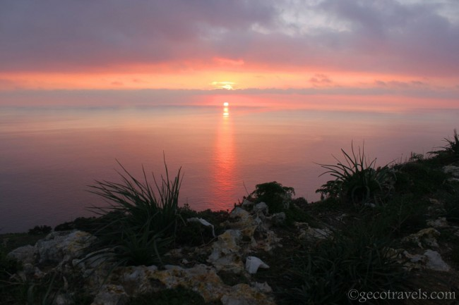 tramonto a Dingli cliff