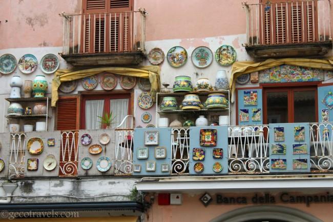 ceramiche colorate ad Amalfi
