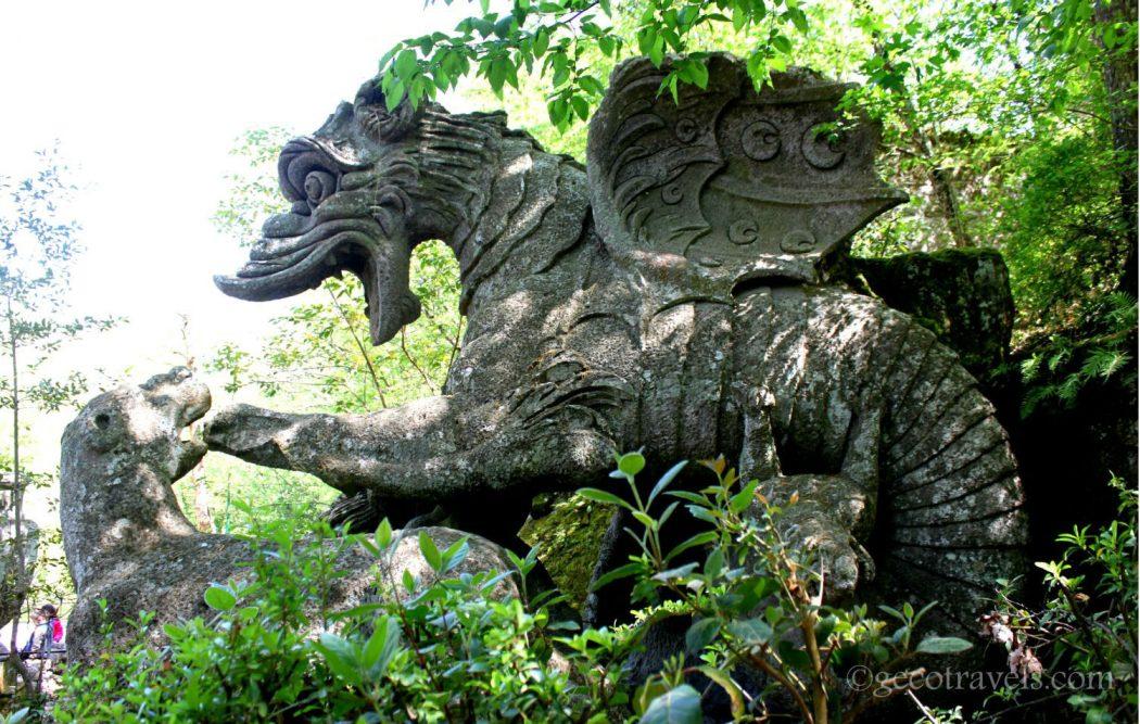 drago del parco dei mostri