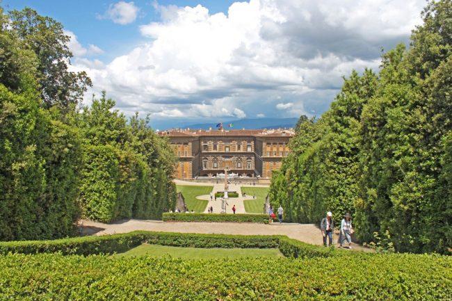 vista del giardino di Boboli