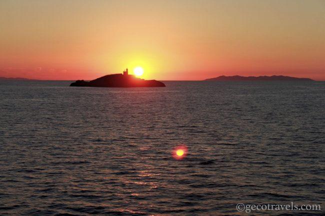 tramonto all'isola d'Elba