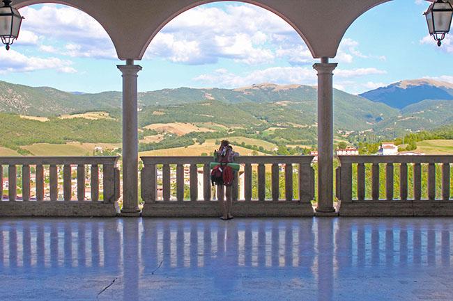 vista sui monti a Cascia