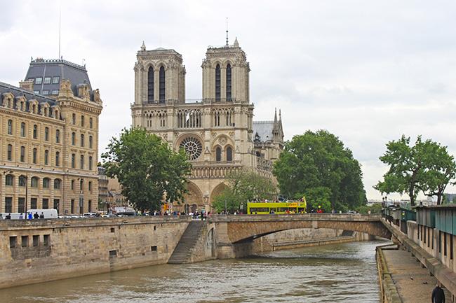vista su Notre Dame de Paris