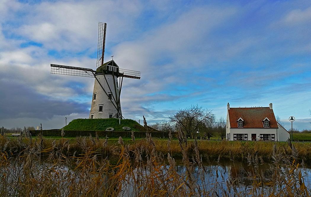 A caccia di mulini a vento: gita in bici fra Bruges e Damme