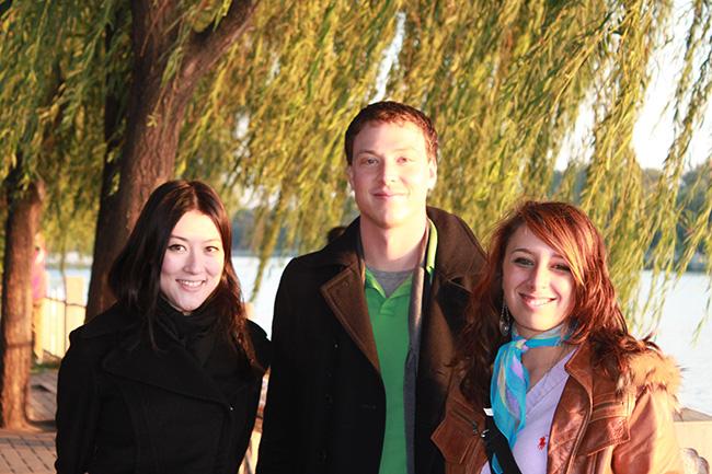 a Pechino con compagni di classe