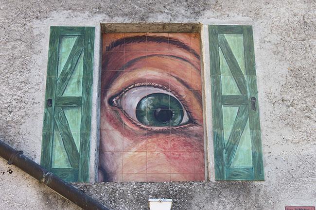 dipinto sui muri di Torre Alfina