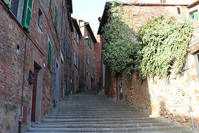 scalinata di Città della Pieve