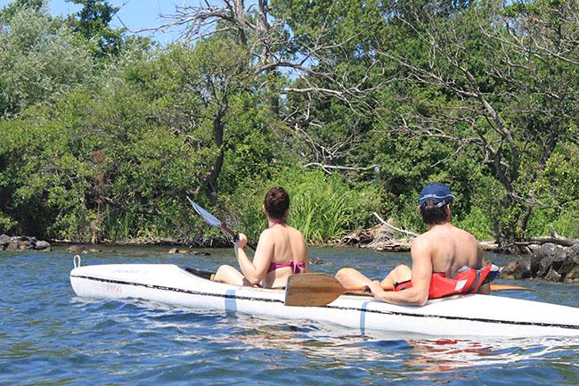 gita in canoa al lago di Bolsena