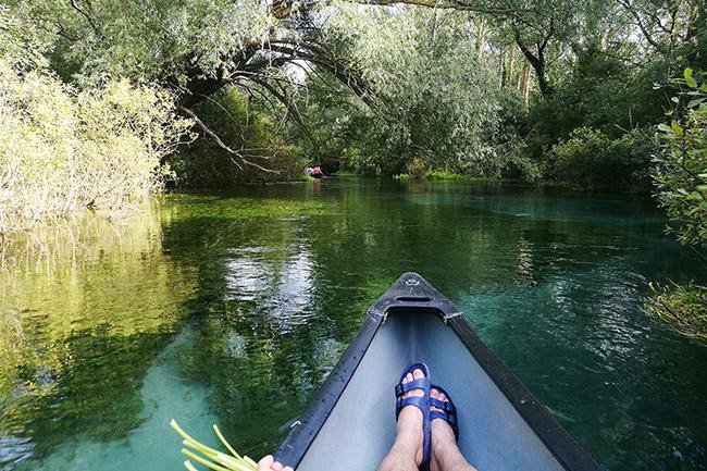 escursione in canoa sul fiume Tirino