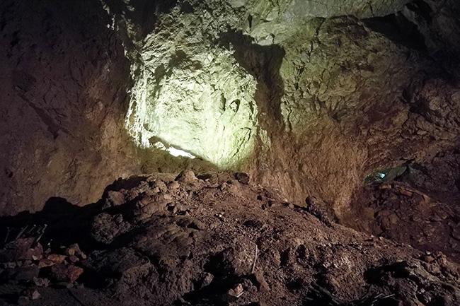 rocce delle grotte di Stiffe