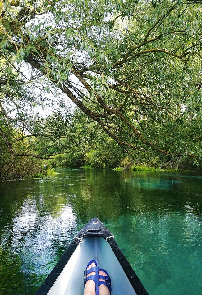 escursione in canoa sul Tirino