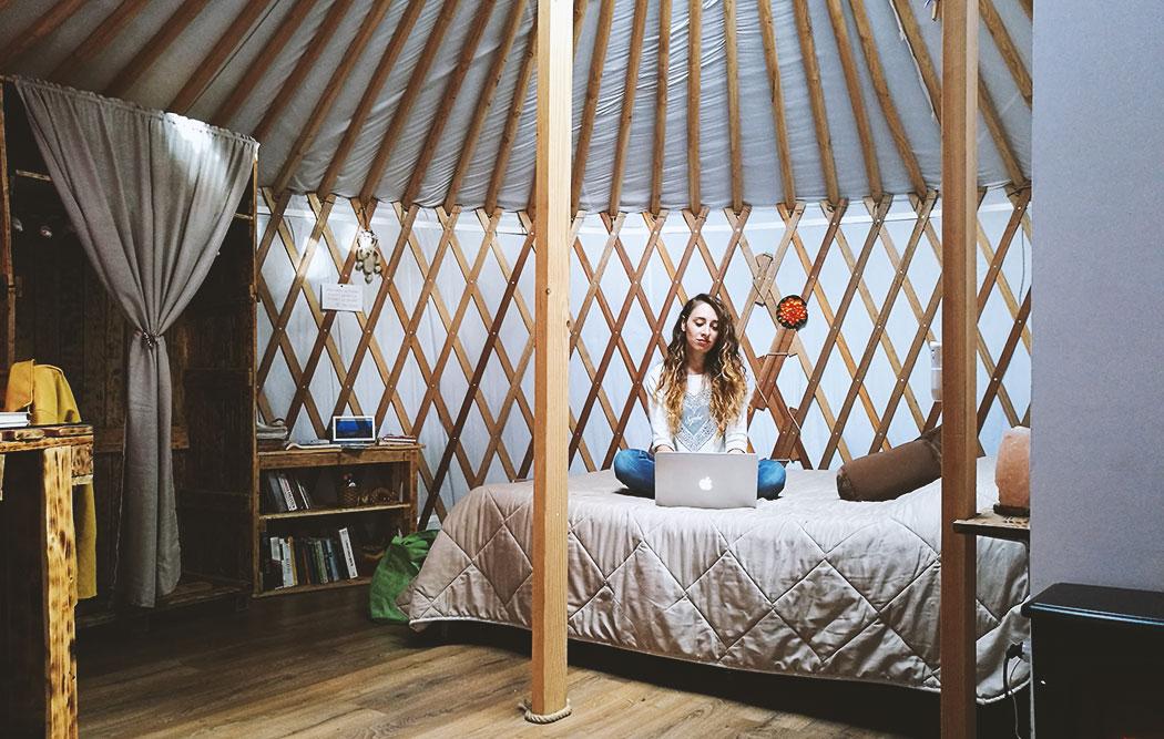 dormire in una yurta