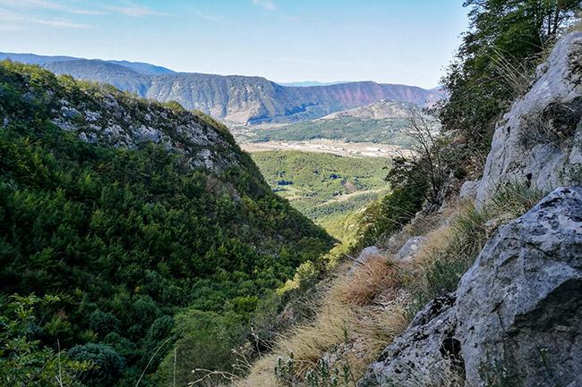 vista sulle montagne della Duchessa