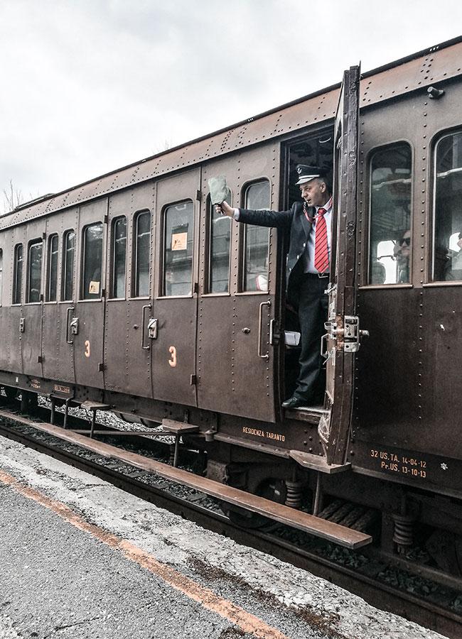 treno storico della sulla Transiberiana d'Italia
