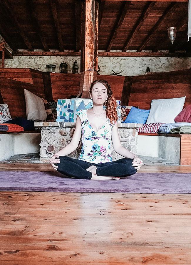 io durante la meditazione