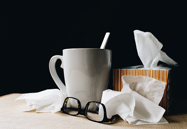 raffreddore in viaggio